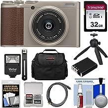 Fujifilm XF10 Digital Camera (Champagne Gold) with 32GB Card + Battery + Flash + Tripod + Case + Kit