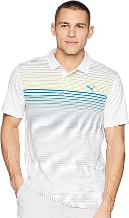 PUMA Golf Highlight Stripe Polo