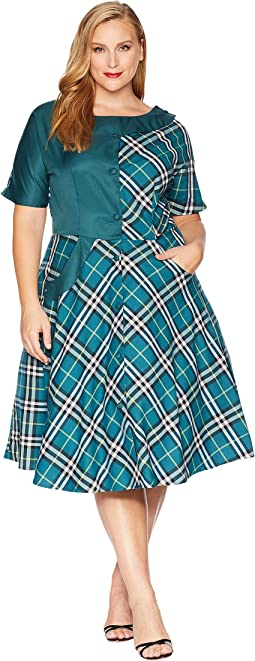 Plus Size 1950s Sterling Swing Dress