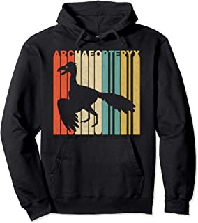 Vintage Retro Archaeopteryx Silhouette Pullover Hoodie