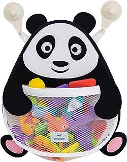 Nooni Care Panda Bath Toy Organizer, Premium Mesh Bathroom Toys Storage Net, Quick Dry Bath Tub Toy Holder Basket with Heavy Duty Suction Cups