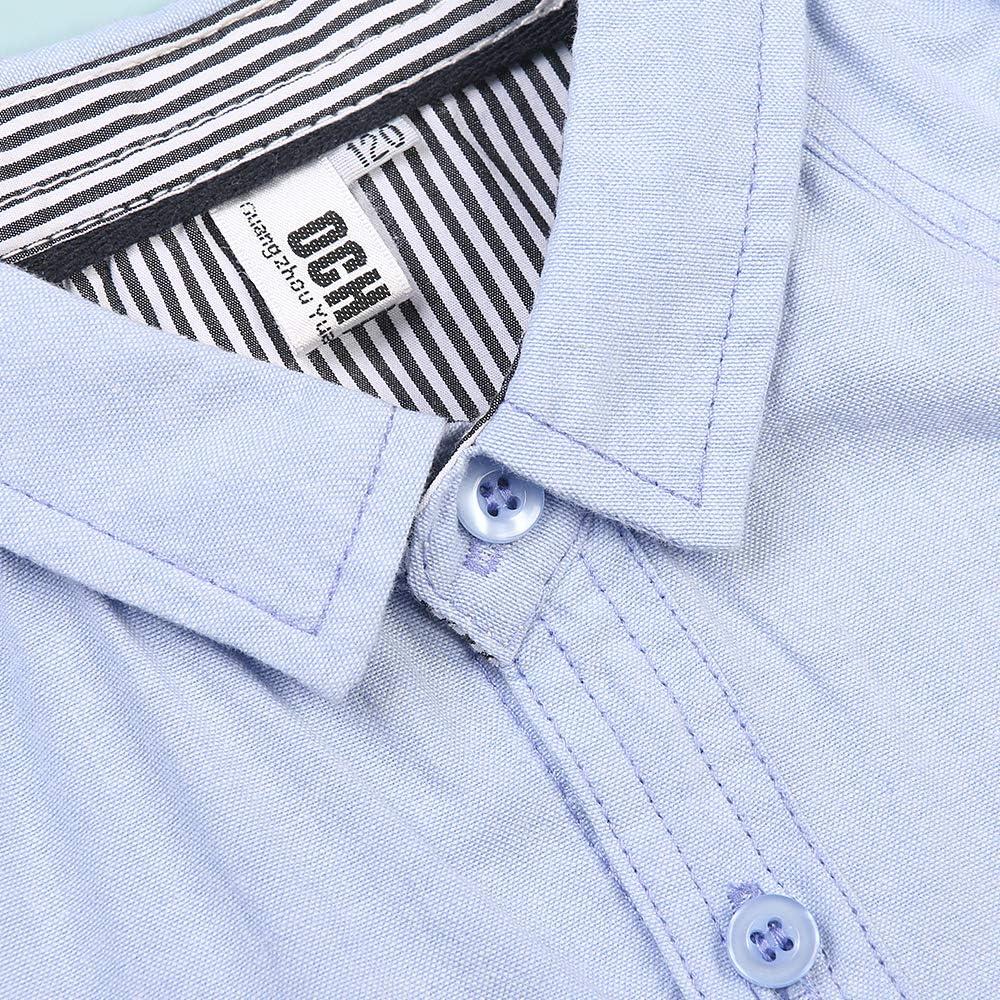OCHENTA Little Big Boys Sport Button Down Shirt