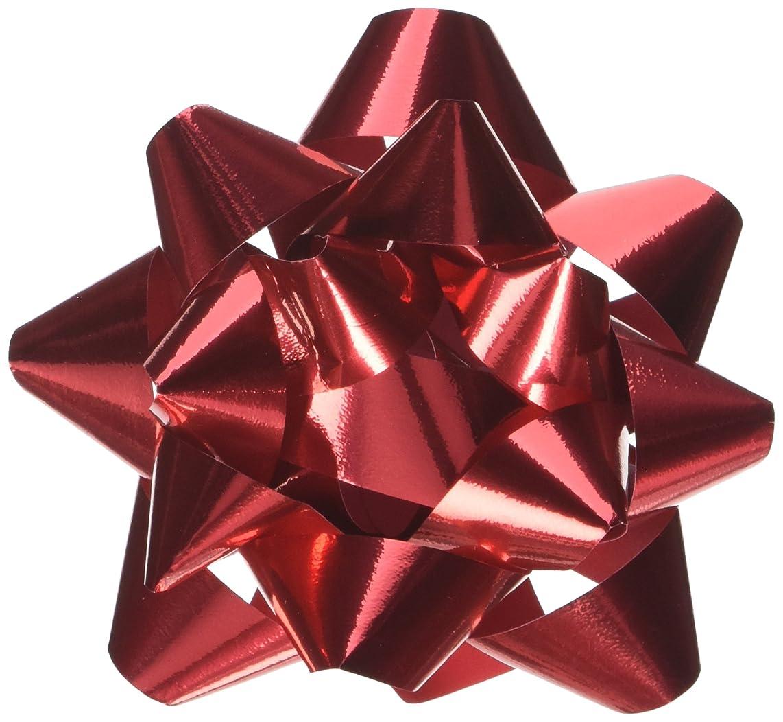 PEPPERLONELY Brand 12PC Peel & Stick Bright Metallic Foil Christmas Confetti Gift Star Bows 4-1/4
