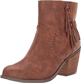 Not Rated Zaine High Heel Tassle Bootie in Camel, 9.0