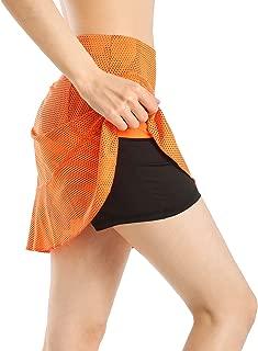 Women Tennis Skirt Gym Sports Running Golf Skort with Pocket
