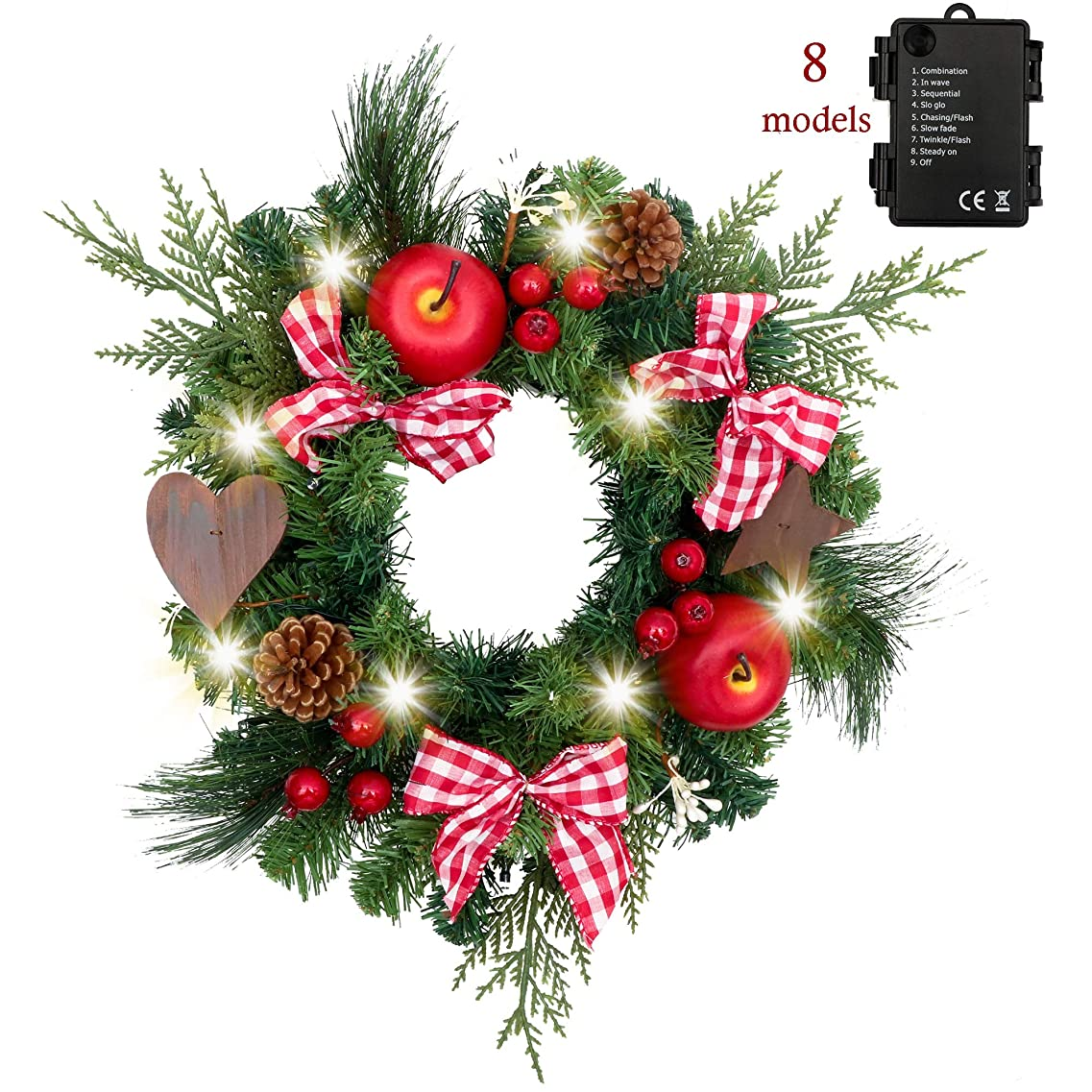 定義ゴム集中Valery Madelyn クリスマス リース クリスマス オーナメント 红白 Xmas 壁掛け 玄関飾り直径30cm 北欧風 クリスマス 飾り 飾り付け おしゃれ ゴージャス 人気 クリスマス オーナメント