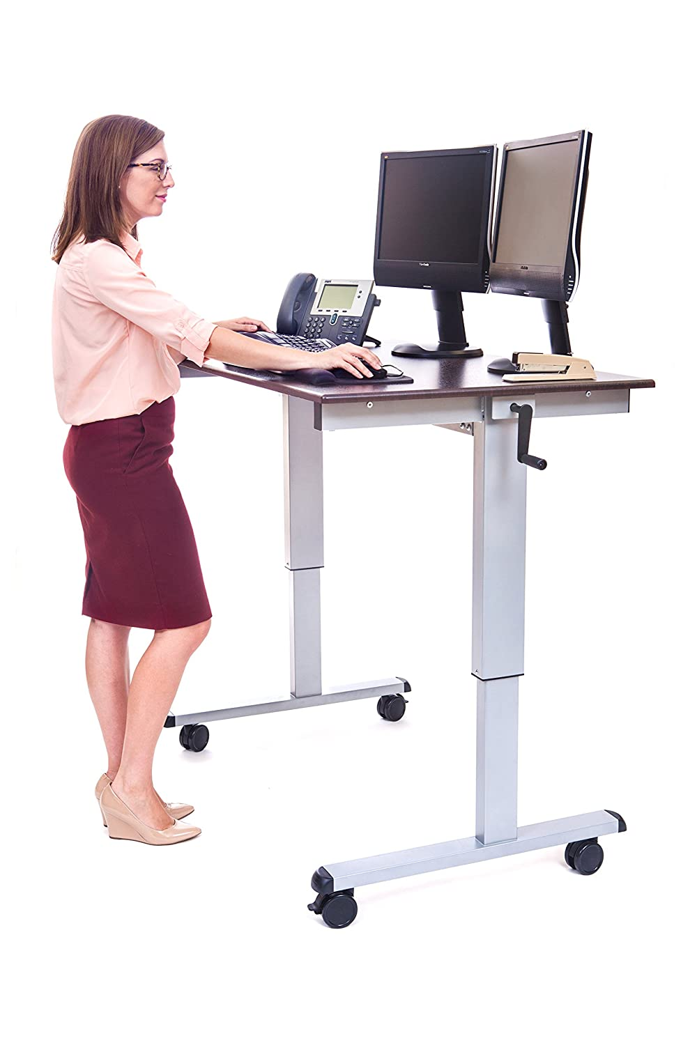 LUXOR Standup-CF48-DW Stand Up Desk, 48 Inch, Grey