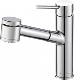 KRAUS Oletto Single Handle Pull Out Kitchen Faucet in Chrome Finish