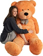Mr. Bear Cares Giant Stuffed 78 inches (6.5 Feet) Teddy Bear Unique Gift for a Loved One - Soft and Cuddly - Light Brown
