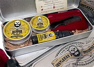 Kit de cuidado de la barba: fragancia de hierba de limón, b