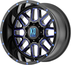 XD SERIES XD820 20x9 6x5.5 18mm Black/Milled/Blue Wheel Rim 20
