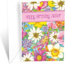 Prime Greetings Floral Happy Birthday Card For Sister