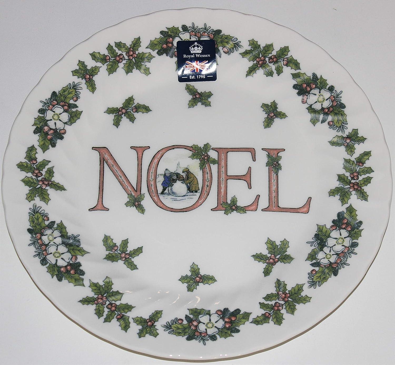Royal 商舗 Wessex Christmas Noel Plates 超激得SALE Dinner Dinnerware