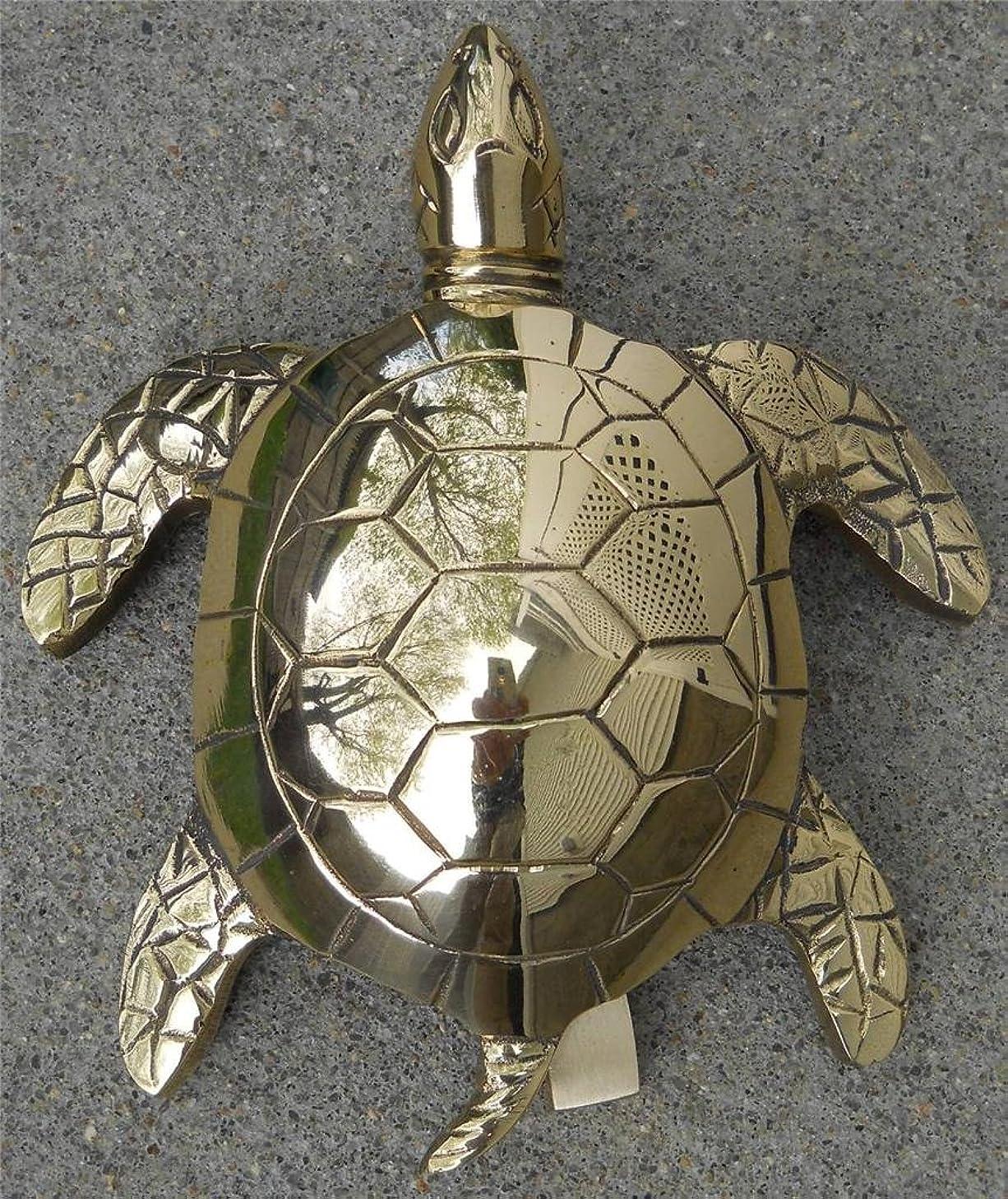 Large Solid Brass Sea Turtle Doorknocker