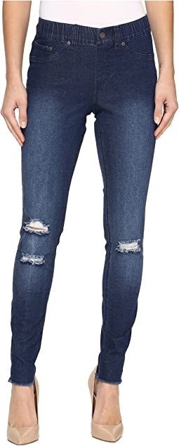 Ripped Knee Denim Leggings