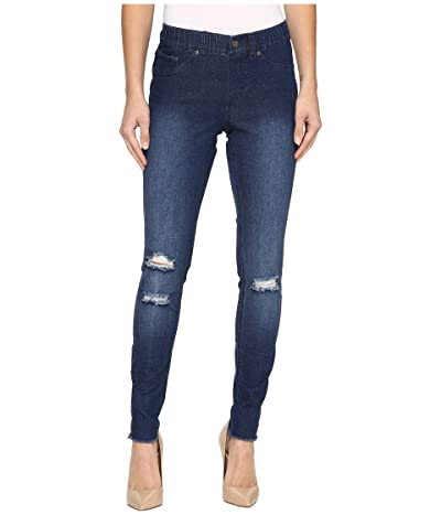 HUE Ripped Knee Denim Leggings Women