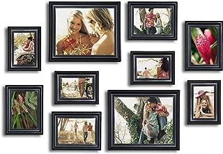 10 Piece Picture Frame Set, Photo Frames Set - Matte Black
