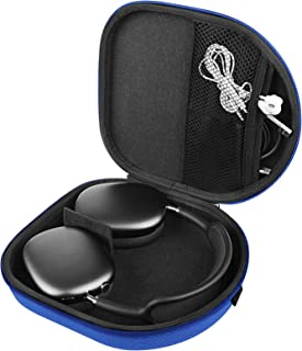 LinkIdea Hard Shell Case for AirPod Max Headphones, Over-Ear Headphone Carrying Bag, Headset Protective Travel Case (Blue)