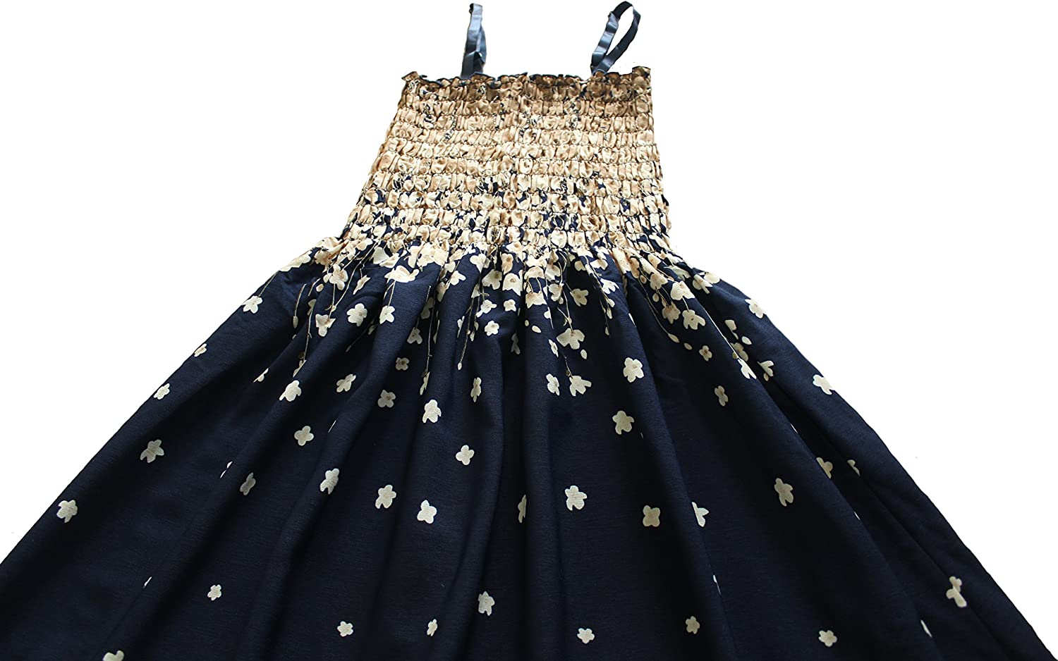 Women Maxi Floral Summer Dress Party Cocktail Boho Plus Size Casual Navy Smocked