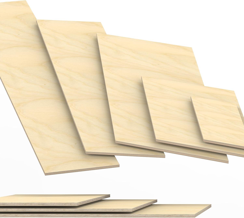 40x30 cm 8mm Sperrholz-Platten Zuschnitt L/änge bis 150cm Birke Multiplex-Platten Zuschnitte Auswahl