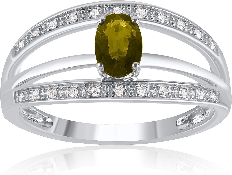 TJD White Round Natural Diamond and Blue Sapp Shape Oval Genuine quality assurance Boston Mall