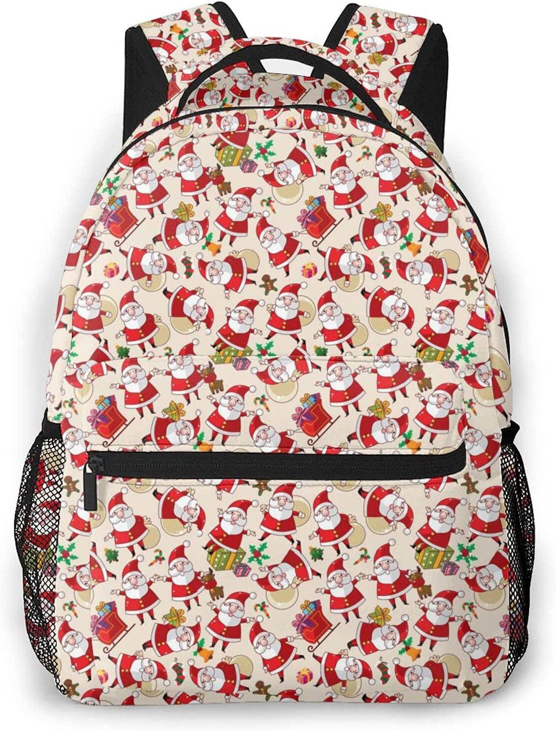 Christmas Santa Claus Bargain sale Backpack Our shop OFFers the best service Waterproof College Large-Capacity