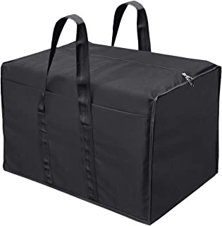 Storite Big Clothes Nylon Storage Bag Organizer for Books Magazine, Stationery Paper, Document Toy Storage - (Black, 57x 3...