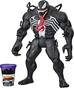 Spider-Man Maximum Venom, Venom Ooze 12.5-Inch Figure with Ooze-Slinging Action, Can of Ooze, Ages 4 and Up