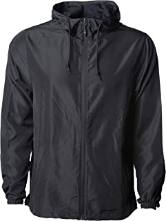 Global Blank Men's Lightweight Windbreaker Winter Jacket Water Resistant Shell