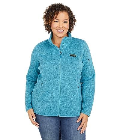 L.L.Bean Plus Size Sweater Fleece Full Zip Jacket (Evening Blue) Women