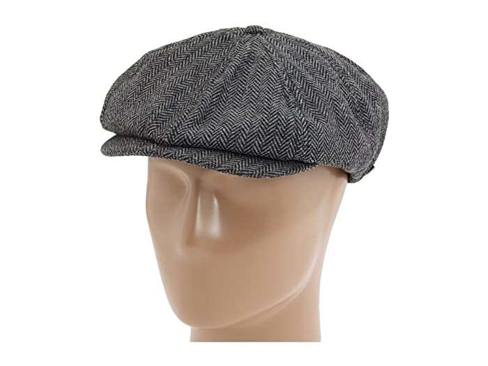 1940s Mens Hats | Fedora, Homburg, Pork Pie Hats Brixton Brood Snap Cap GreyBlack Caps $40.99 AT vintagedancer.com