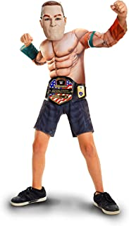 WWE John Cena Deluxe Muscle Suit with Championship Title Belt
