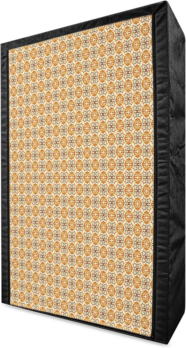 Complete Free Shipping Ambesonne Ottoman Our shop OFFers the best service Portable Fabric Artwork Mosaic with Wardrobe