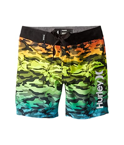 Hurley Kids Floral Camo Boardshorts (Big Kids) (Multi) Boy