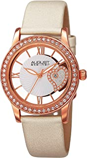 "August Steiner Women's Swarovski Crystal Watch - See Thru Heart Dial Wave Pattern ""Floating"" Dial - AS8176"