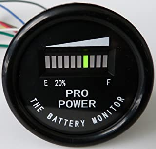ProPower PRO12-48M Golf Cart Battery Indicator Ezgo Yamaha Club Car 12, 24, 36, 48 VDC - Works on Trojan, Exide and All Batteries