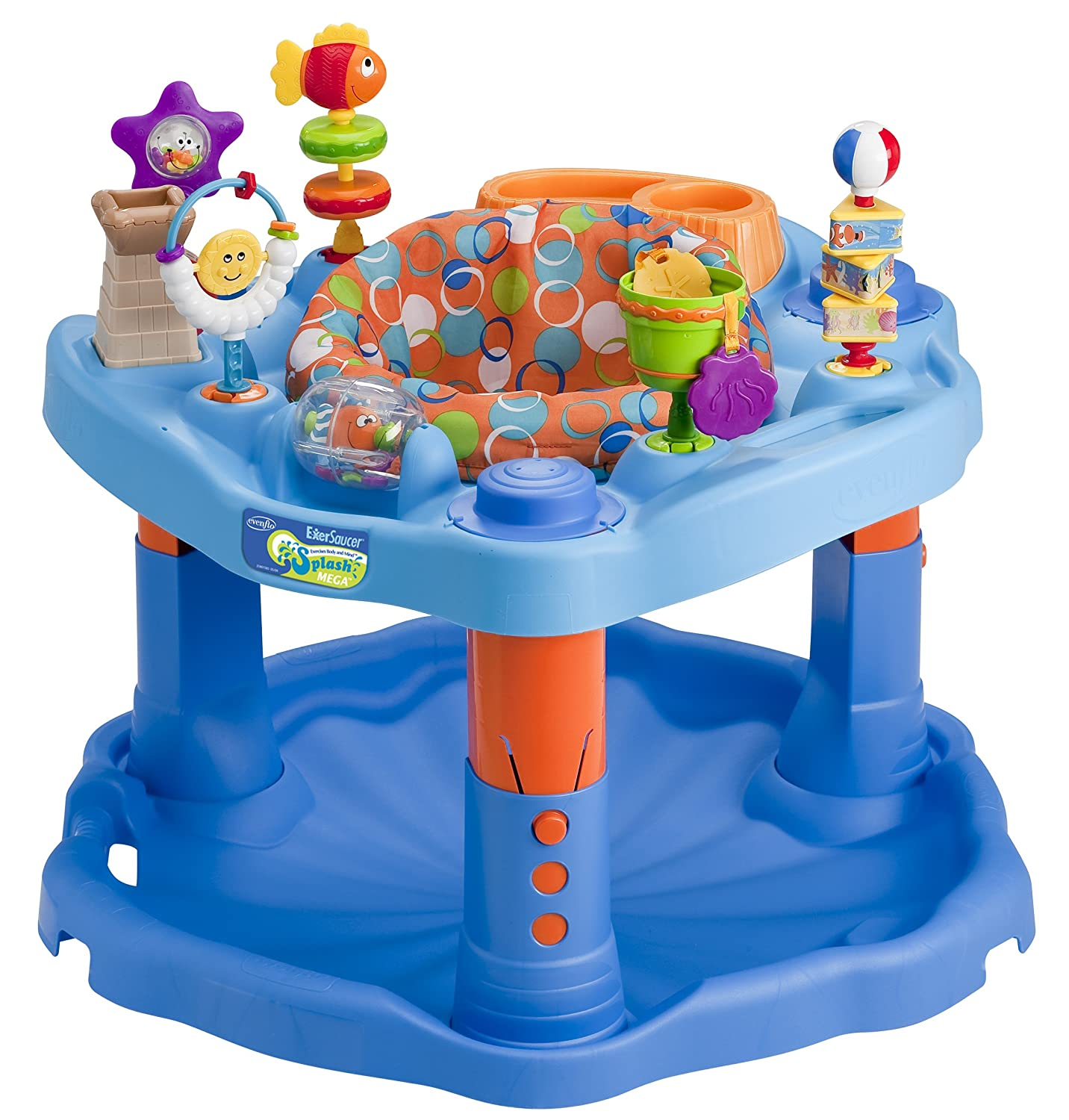 Amazon.com : Evenflo Splash Mega Exersaucer (Discontinued by Manufacturer) : Stationary Stand Up Baby Activity Centers : Baby