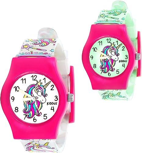 KIDDUS Reloj Educativo de Calidad para niña y niño. Analógico de Pulsera, con Ejercicios Time Teacher para Aprender a...