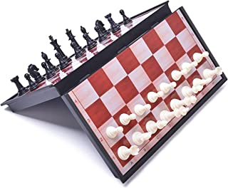 BRAINS Magnetic Chess Set with 12.5 inch Foldable Chessboard