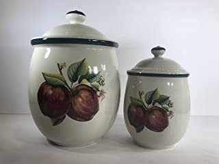 Apples, Casuals by China Pearl, Stoneware Canister Set
