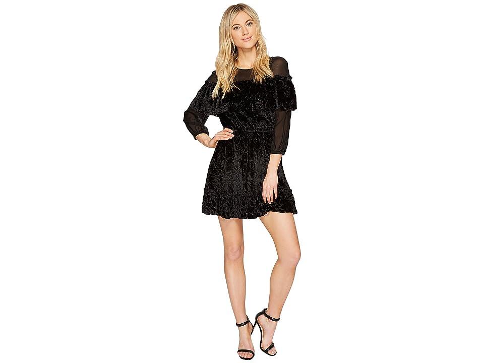 Rachel Zoe Velvet Burnout Pire Dress (Black) Women