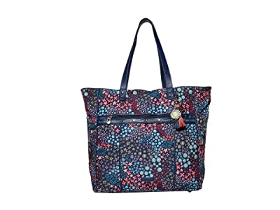 Sakroots Artist Circle Kota Nylon Travel Bag (Navy Floral Spirit) Handbags