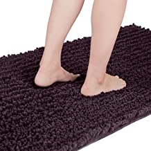 Yimobra Original Luxury Chenille Bath Mat, Soft Shaggy and Comfortable, Large Size, Super Absorbent and Thick, Non-Slip, M...