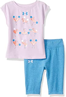 Baby Girls Short Sleeve Tee and Capri Set