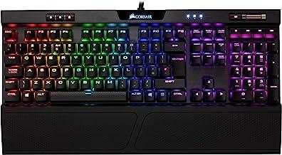 Corsair K70 MK.2 RGB - Teclado mecánico Gaming, retroiluminación LED RGB, Cherry MX Marrón (Táctil y silencioso) - [QWERTY Español]