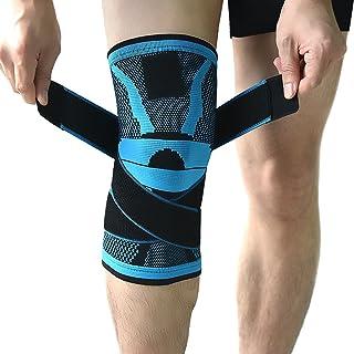 Rodillera, rodillera de compresión, antideslizante ajustable rodilla tirantes para con correa de presión y rodilla Protector de pantalla para correr, deportes, conjunta alivio del dolor, artritis y lesiones Rótula recovery- único