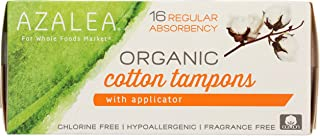 Azalea, Organic Cotton Tampons with Applicator, Regular, 16 ct