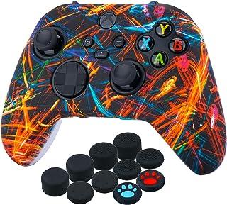 غطاء من السيليكون مطبوع عليه YoRHa من أجل Xbox Series X/S Controller x 1 (إضاءة ليل) مع مقابض إصبع الإبهام x 10