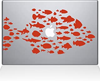 "The Decal Guru Swim with The Fishes Vinyl Sticker, 13"" MacBook Pro (2016 & Newer) 13"" Macbook Pro (2016 & newer) orange 01..."