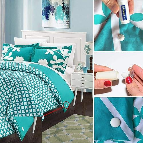 Lot de 8,/suffisant pour 2/lits Clips de couette magn/étiques PinionPins 8 Plus solides que les fermetures pour couettes traditionnelles White Cloth